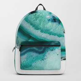 turquoise agate slice Backpack
