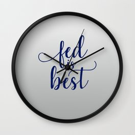 Breast Feeding Sayings Wall Clock