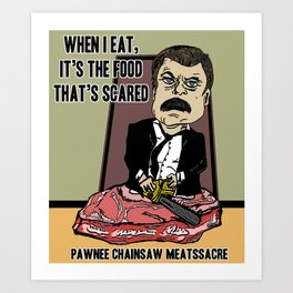 RON LEATHERFACE SWANSON Art Print