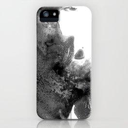 Black white art iPhone Case
