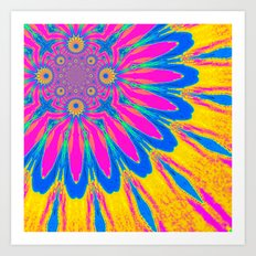 Rainbow Modern Flower Art Print