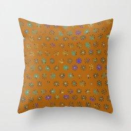 Primitive Sun Print--faded, distressed, tribal Throw Pillow
