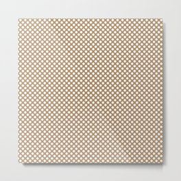 Iced Coffee and White Polka Dots Metal Print