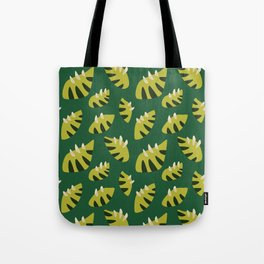 Pretty Clawed Green Leaf Pattern Tote Bag