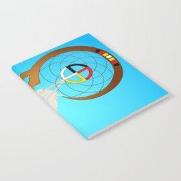 dreamcatcher blue Notebook