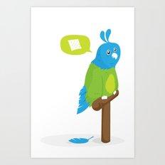 Depressed Parrot Art Print