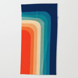 Retro 70s Color Palette III Beach Towel