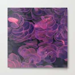 Magic purple leaves Metal Print