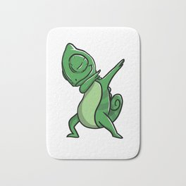 Funny Dabbing Chameleon Reptile Pet Dab Dance Bath Mat