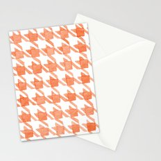 Watercolor Houndstooth Stationery Cards