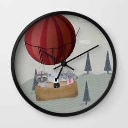 the littlest adventure Wall Clock