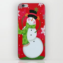 Happy Snowman iPhone Skin