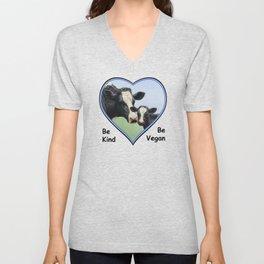 Holstein Cow and Calf Vegan Unisex V-Neck