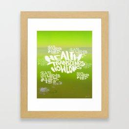 Health Transcends – Lime Framed Art Print