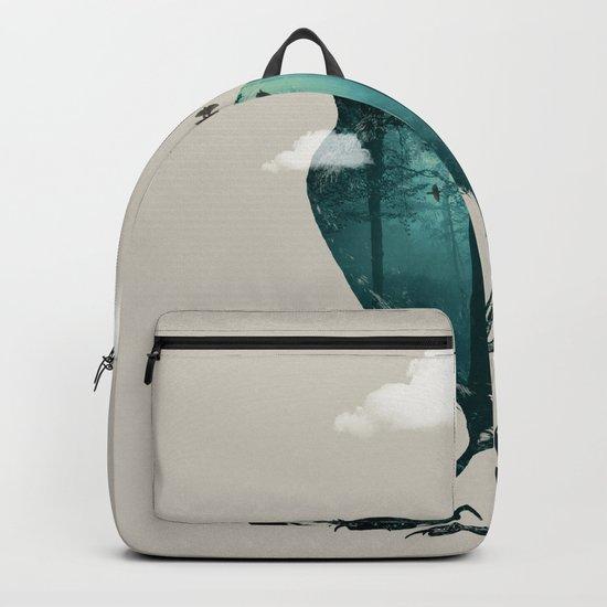Teal Raven Backpack