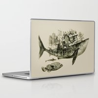 shark Laptop & iPad Skins featuring shark by Кaterina Кalinich