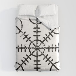 Helm of Awe [Black | Distressed] Comforters