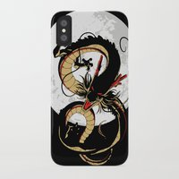 dragon ball iPhone & iPod Cases featuring Black Dragon by TxzDesign