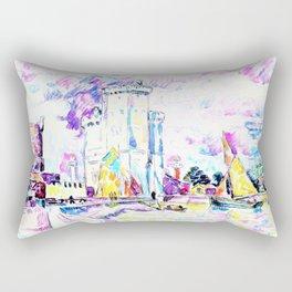 Paul Signac - The Rochelle - Digital Remastered Edition Rectangular Pillow