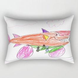 Shark Car Rectangular Pillow