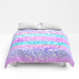 Unicorn Girls Glitter #15 #shiny #decor #art #society6 Comforters