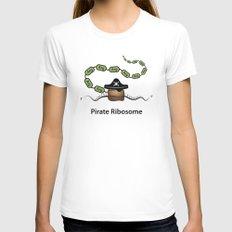 Pirate Ribosome Womens Fitted Tee White MEDIUM