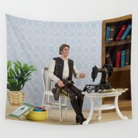 han solo Wall Tapestries featuring Han Sewlo by JackyAttacky