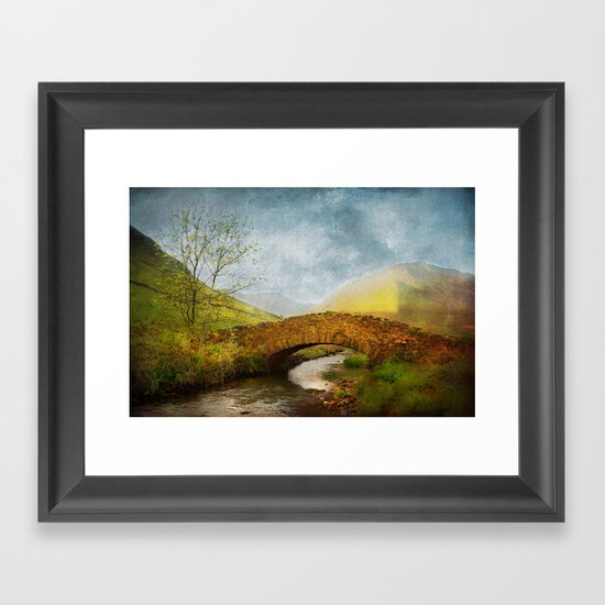 Bridge over a River Framed Art Print