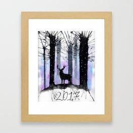 2017 Christmas Card Framed Art Print