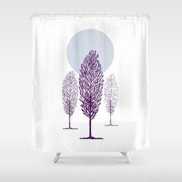 Cold Trees Shower Curtain