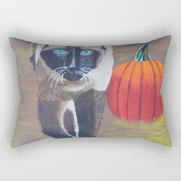 Harvest Kitty Rectangular Pillow