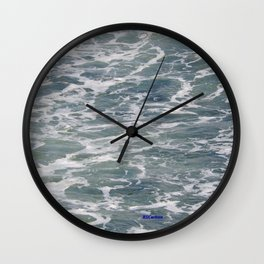 TEXTURES -- Ferry Wake in Puget Sound Wall Clock