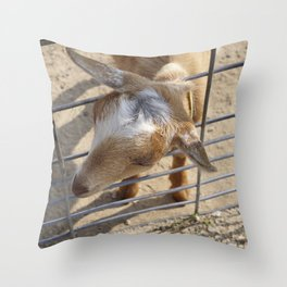 It really gets my goat when all those people stare at me Throw Pillow