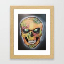 Mrs. skull Framed Art Print