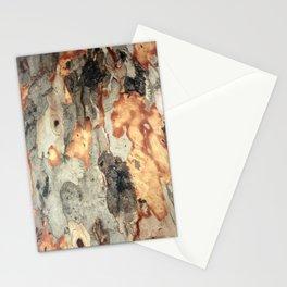 Peeling Scales Of Eucalyptus Tree Bark Stationery Cards