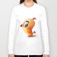 chicken Long Sleeve T-shirts featuring Chicken by Alexander Skachkov