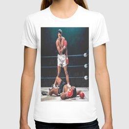 Muhammad Al-i Legendary Boxer Sonny Liston Knock Out Clay Boxing T-shirt