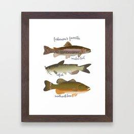 Fisherman's Favorites Framed Art Print