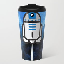 R2D2 flying to the moon Travel Mug