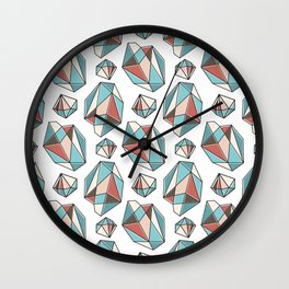Diamonds are forever Pattern 3 Wall Clock