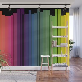 City tales in rainbow colors Wall Mural