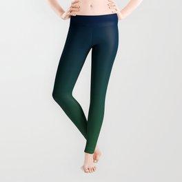 Blue-green Ombre Leggings