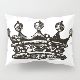 Royal Crown | Vintage Crown | Black and White | Pillow Sham