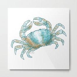 Coastal Crab Metal Print