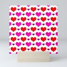 Love Hearts Pattern Mini Art Print
