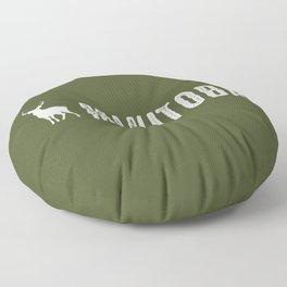 Deer: Manitoba, Canada Floor Pillow