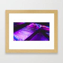 Neon Piano Framed Art Print