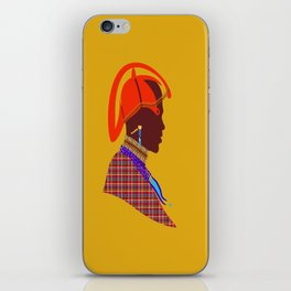 Kenya massai warrior africa graphic design digital art iPhone Skin