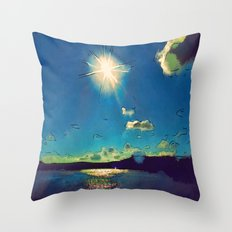 Sunshine at the Black Sea Throw Pillow