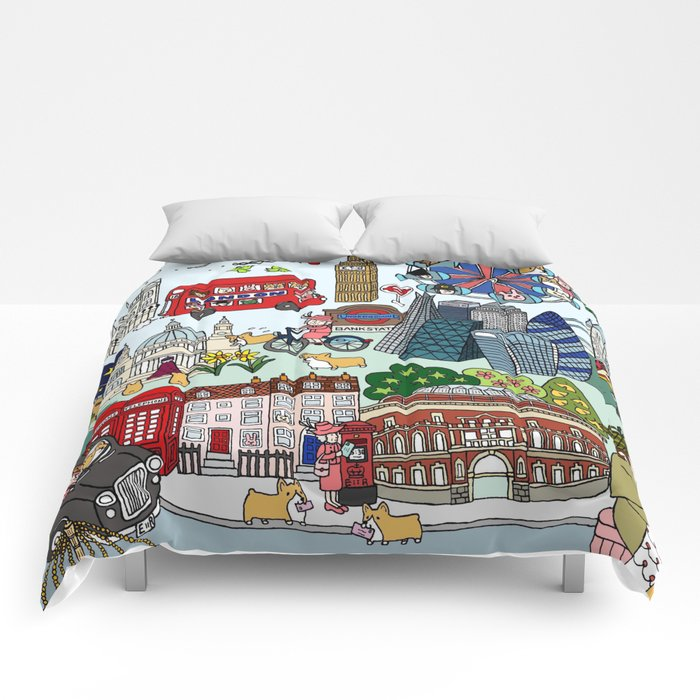 The Queen's London Day Out Comforters